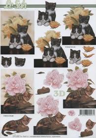 3D sheet Katzen