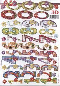 3D Bogen Zahlen 0-9 Format A4