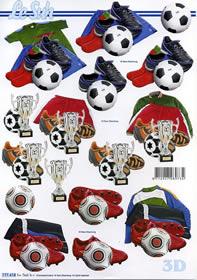 3D Bogen Footbal - Format A4