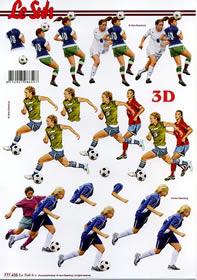 3D sheet Fussballer - Format A4