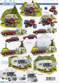 3D sheet Camping + Zelten - Format A4 - Format A4
