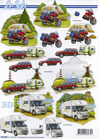 Hojas de 3D Camping + Zelten - Format A4 - Formato A4