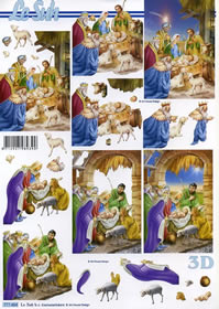 3D Bogen Weihnachtskrippe - Format A4