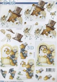 Carta per 3D Hochzeit B?ren - Formato A4