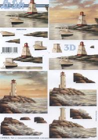 3D Bogen Leuchtturm - Format A4