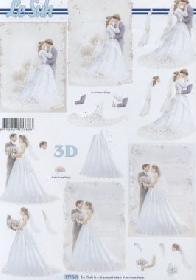 Feuille 3D Brautpaar - Format A4