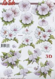 Feuille 3D Blumen - Format A4