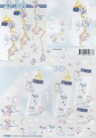 3D Bogen Zur Geburt - Format A4