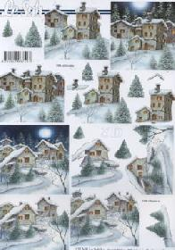 3D sheet Winterlandschaft - Format A4