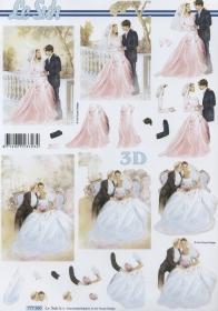 Feuille 3D Format A4 Hochzeit