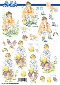 3D sheet Junge und Mädchen Format A4
