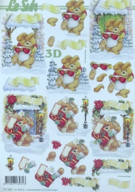 Hojas de 3D Weihnachtshase