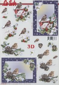 3D Bogen Weihnachtlich Brief+Vogel - Format A4