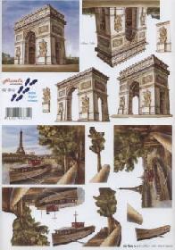 Hojas de 3D Triumphbogen Paris - Formato A4