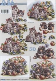 Carta per 3D Katzen+Hund  - Formato A4