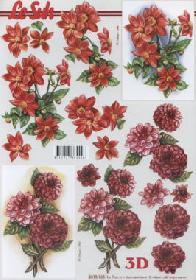 3D sheet Dahlien - Format A4