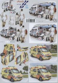 3D sheet Krankenwagen - Format A4