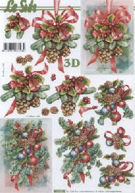 Feuille 3D Weihnachts Deko - Format A4
