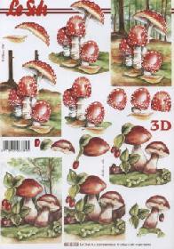 3D sheet Pilze - Format A4
