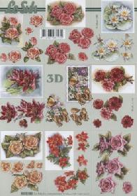 3D sheet Blumen klein - Format A4