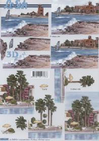 3D sheet Strand und Meer - Format A4