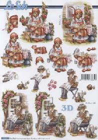 Hojas de 3D Oma+Opa - Formato A4
