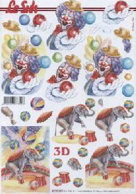 3D Bogen Zirkus - Format A4
