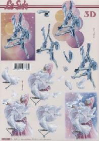 3D Bogen Zirkus Artisten - Format A4