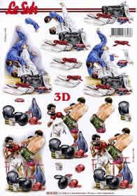 3D sheet Judo/Boxen - Format A4