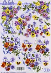 3D Bogen Blumen Ecken - Format A4
