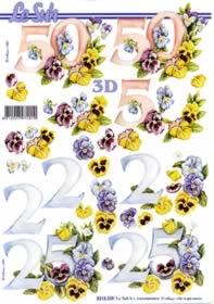 Hojas de 3D Jubiläum 25 und 50 - Formato A4