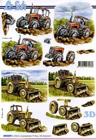 Łuk 3D - maszyny rolnicze Format A4