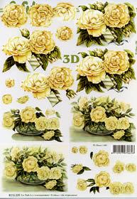 3D Bogen Rosen in der Vae - Format A4