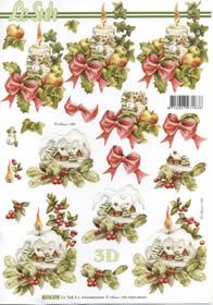 Hojas de 3D Weihnachtskerzen - Formato A4