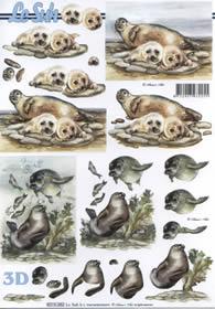 3D sheet Seehund+Robbe - Format A4