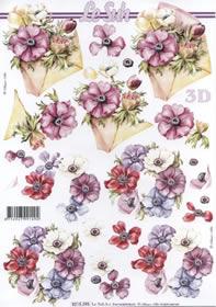 3D Bogen Blumen mit Umschlag - Format A4