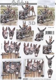 3D sheet Esel - Format A4