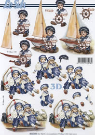 3D Bogen Puppe mit Schiff - Format A4