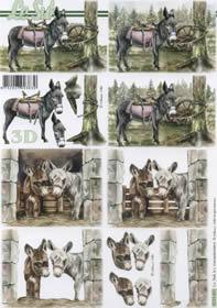 Feuille 3D Esel - Format A4