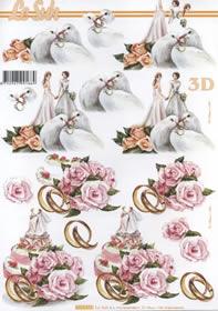 Feuille 3D Heiraten - Format A4
