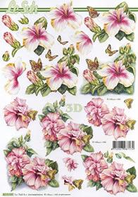 Hojas de 3D Blumen - Formato A4