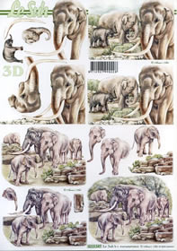3D Bogen Elefanten - Format A4