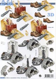 3D sheet Männersachen - Format A4