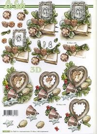 3D Bogen Weihnachten mit Bilder - Format A4