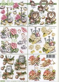 3D Bogen 6x Weihnachts-Nostalgie - Format A4