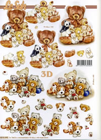 3D sheet B?renfamilie - Format A4