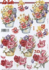 Hojas de 3D Fr?hlingsblumen - Formato A4