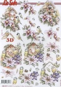 3D Bogen Vogelhaus - Format A4