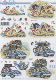3D sheet Urlaub+Zelten - Format A4