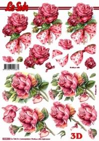 3D sheet Rosen mit Schleife - Format A4